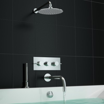 Concealed Shower with Deck Mounted Handheld | Concealed Shower with ...