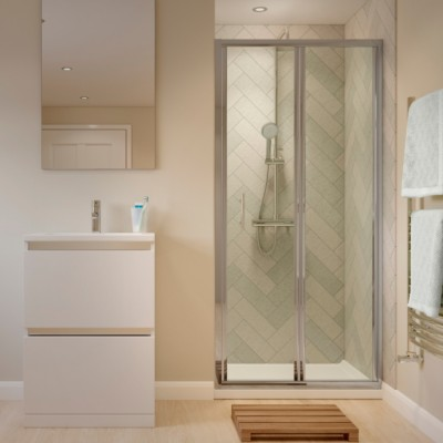 Bi Fold Door With Easy Clean Glass - Easy to clean bathroom tile