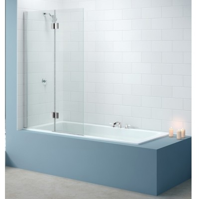 Merlyn Two Panel Standard Hinged Bath Shower Screen Left Hand