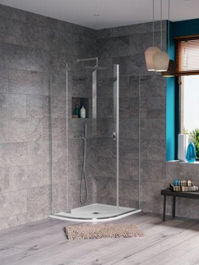 1000mm Hinged Shower Door