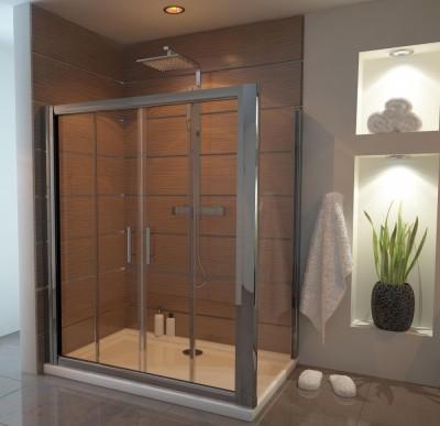 1400 x 800 Sliding Door Shower Enclosures   Ergonomic Designs