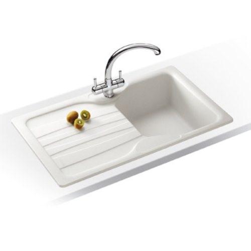 Franke Calypso COG 611 Fragranite Kitchen Sink in Polar White
