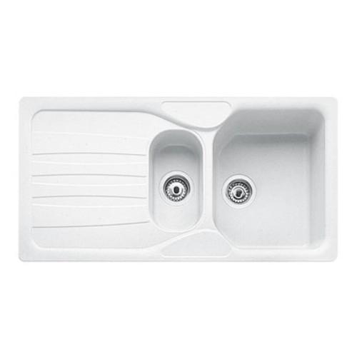 Franke Calypso COG 651 Inset Fragranite Kitchen Sink in Polar White