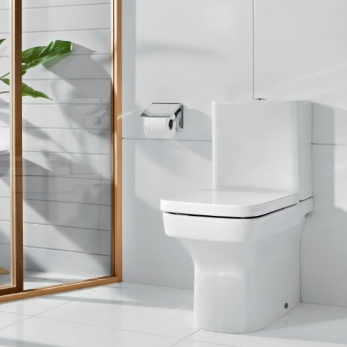 Roca dama n compact close coupled toilet pan for Roca dama toilet