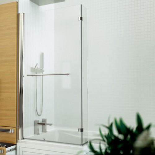 Kudos Inspire L-Shaped Bath Screen 1500x809mm with Handle