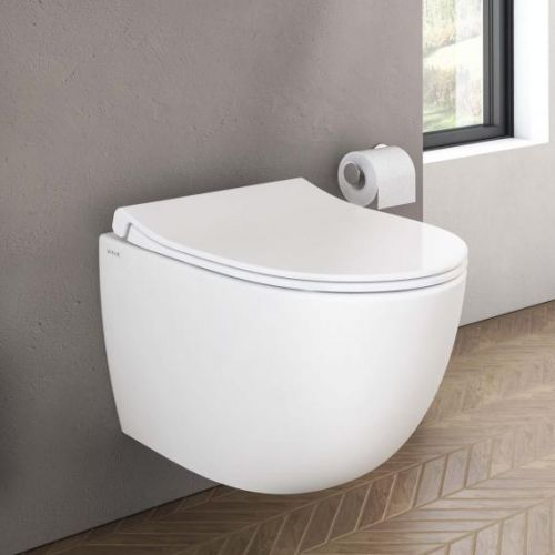image for 4337B003-0075 Vitra Sento Compact Wall Hung Toilet Pan