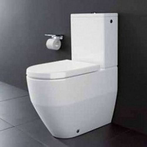 laufen pro close coupled closed back toilet wc pan in white. Black Bedroom Furniture Sets. Home Design Ideas