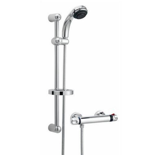 Ultra Reef Thermostatic Bar Mixer Shower Valve With Slider Rail Kit