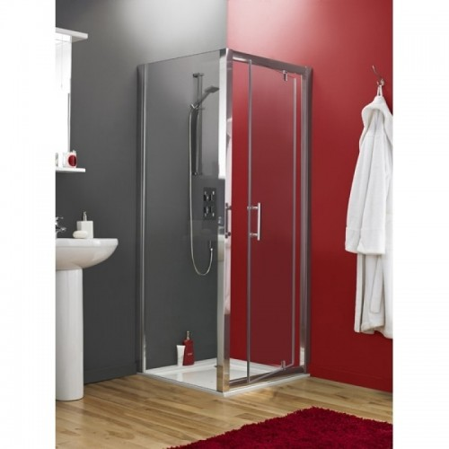 image for AQPD80-AQFSP80-NTP006 Premier Pacific 800 x 800 Pivot Door Shower Enclosure with Tray