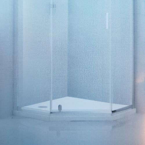 image for BE611239-DT Frontline Aquaglass 900 X 900mm Pentagon Shower Tray