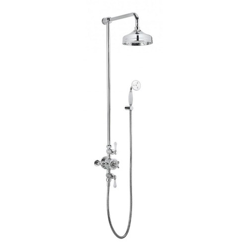 Crosswater Belgravia Thermostatic Exposed Shower With 12 Inch Shower ...