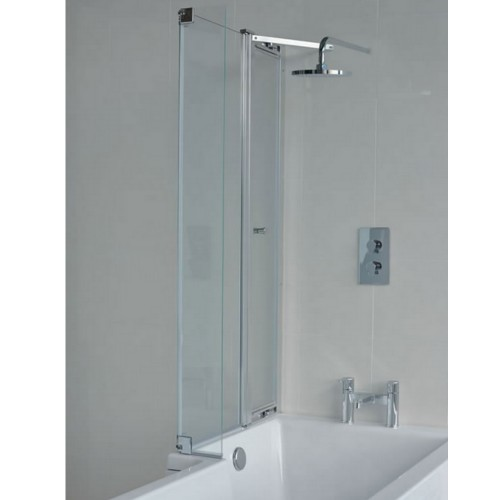 Cleargreen EcoSquare 820mm Bath Shower Screen With Access Panel LH