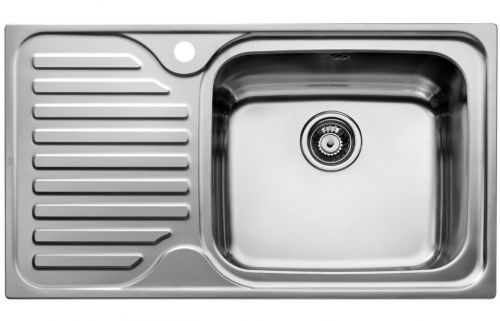 Teka Classic 1B and Drainer Inset Rev Kitchen Sink Stainless steel