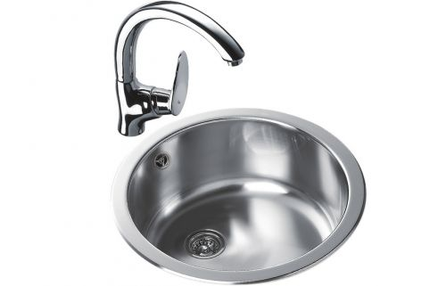 Teka ERC 1B Round Inset Kitchen Sink Stainless steel