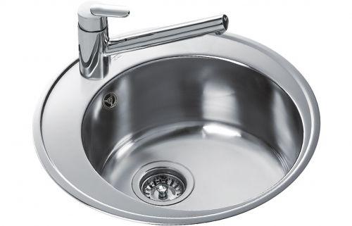 Teka Centroval 45 1B Round Inset Kitchen Sink Stainless steel