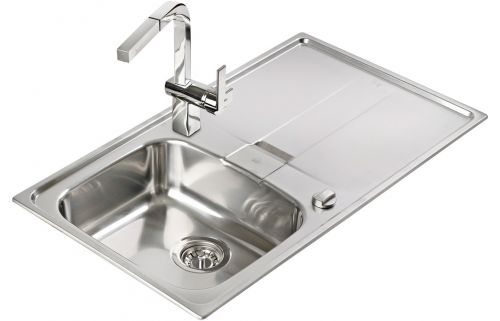 Teka Stena 45 1B and Drainer Inset Rev Kitchen Sink Stainless steel