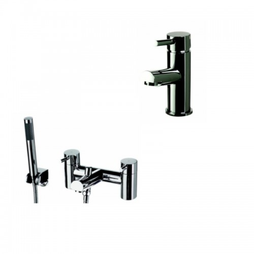 image for DALPACK1 Chrome Deck Mounted Mono Basin And Bath Shower Mixer Tap Pack