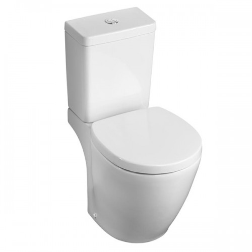 Ideal standard concept space close coupled toilet pan - Small toilets for tight spaces concept ...