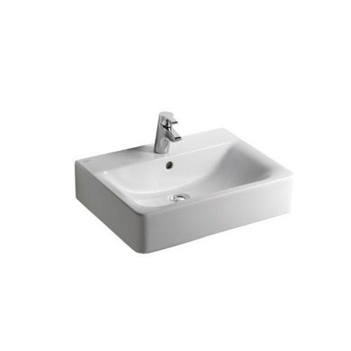 ideal standard concept cube 500mm 1 tap hole basin. Black Bedroom Furniture Sets. Home Design Ideas