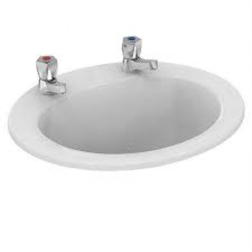 image for E895401 Ideal Standard Sandringham 500mm 2TH In Countertop Basin