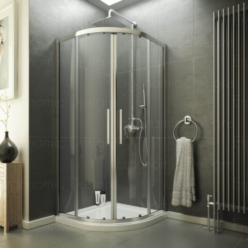 900 X Quadrant Shower Enclosure 8mm Easy Clean Glass Tray