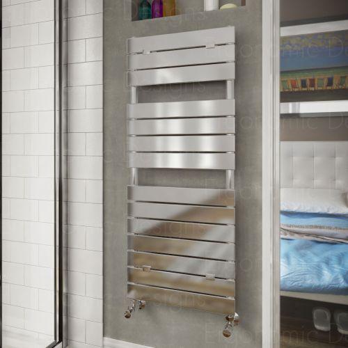 Designer Chrome Heated Bathroom Towel Rail Radiator 1213 x ...