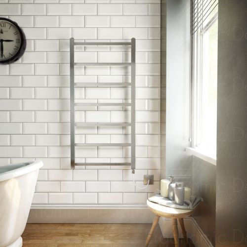 Electric only square 1200 x 600 bathroom chrome designer for Ergonomic designs bathroom