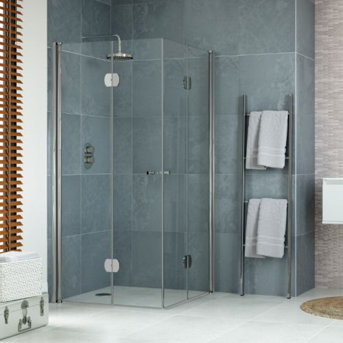 900 X 900mm Easy Access Corner Entry Hinged Shower Enclosure