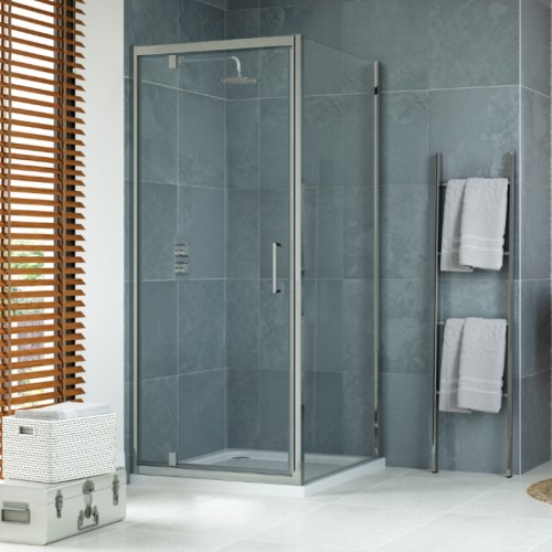 image for EDPP9010-EDPD9026-EDPJ25P1424 900 x 900mm Pivot Shower Enclosure With Tray and Waste