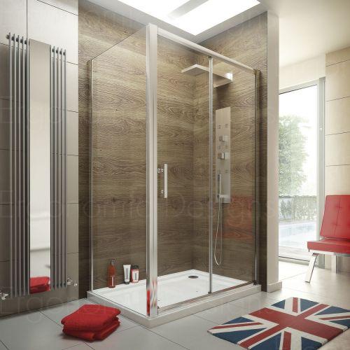 Ergonomic Designs 1500 x 700 Sliding Door Shower Enclosure