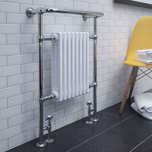 image for EDT302 Ergonomic Design 965x673mm Traditional Bathroom Heated Towel Radiator