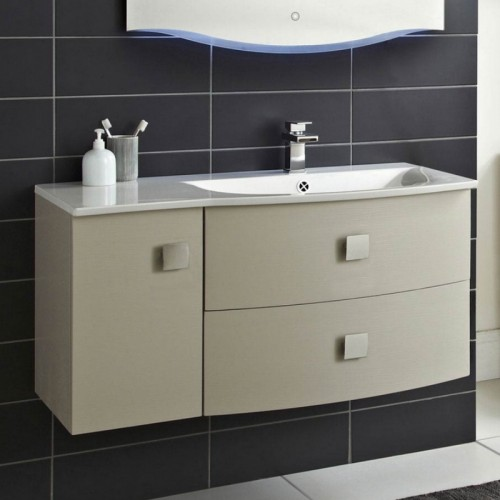Hudson Reed Sarenna 1012mm Wall Hung Vanity Unit In Cashmere RH