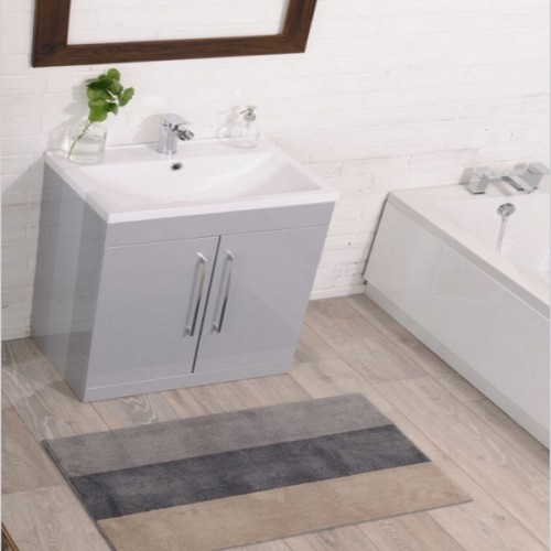 image for id60bu gry ctb606 cassellie 600mm floorstanding bathroom vanity unit with basin in - Bathroom Vanity Units