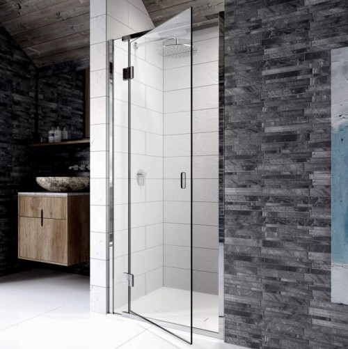 1000mm Hinged Shower Door