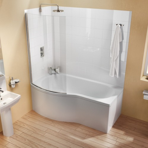 image for R21 Cleargreen Ecoround 1700 X 900mm Shower Bath Left Hand
