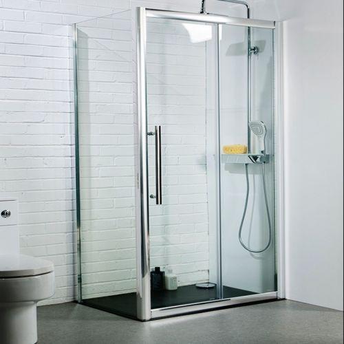 New 1200 X 1950mm Sliding Shower Door 8mm Toughened Glass