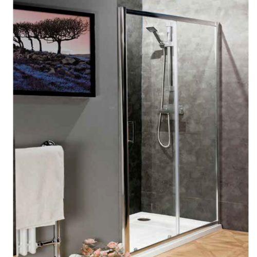 New 1200mm Reversible Sliding Shower Door 6mm Toughened Glass