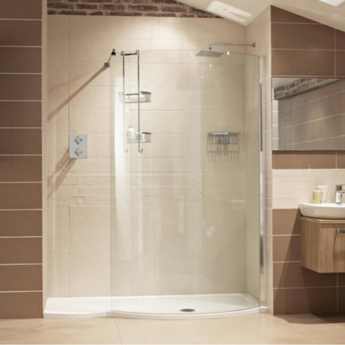 image for V8C13S Roman Lumin8 1700mm Colossus Walk In Shower Enclosure