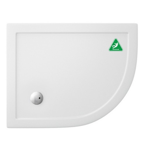 image for Z1200A Zamori 1000 X 800 35mm Offset Quadrant Antislip Shower Tray Right Hand