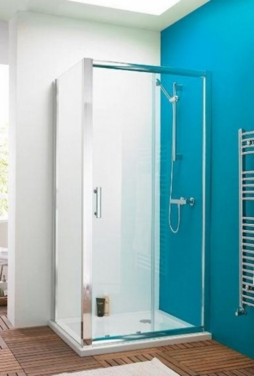 Premier pacific 1400 x 760 sliding door shower enclosure for 1400 shower door
