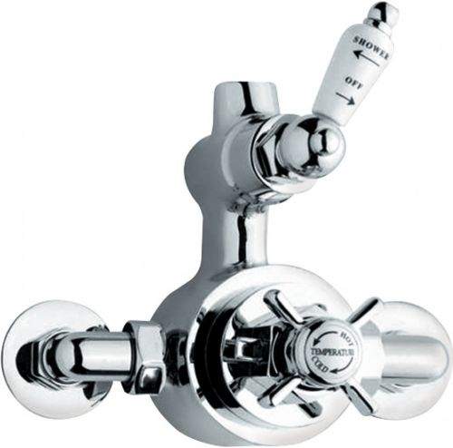 Niku Victorian Traditional Twin Exposed Mixer Shower Valve