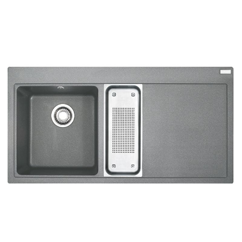 image for 114.0435.726 Franke Mythos Mtg651-100 1.5b1d Rh Inset Kitchen Sink Stone Grey