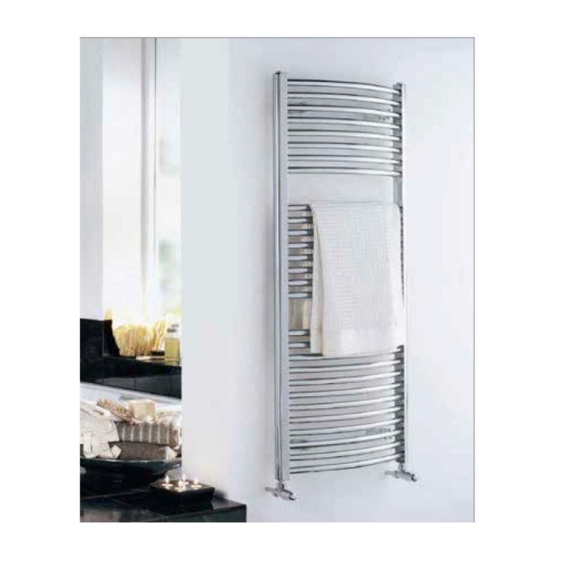image for 148234 Essential Towel Warmer Curved Chrome 1430 X 600 Towel Radiator