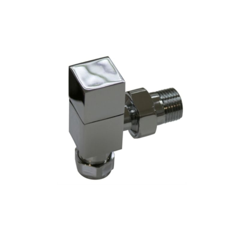 image for 148992 Essential Square Angled Radiator Valves Pair