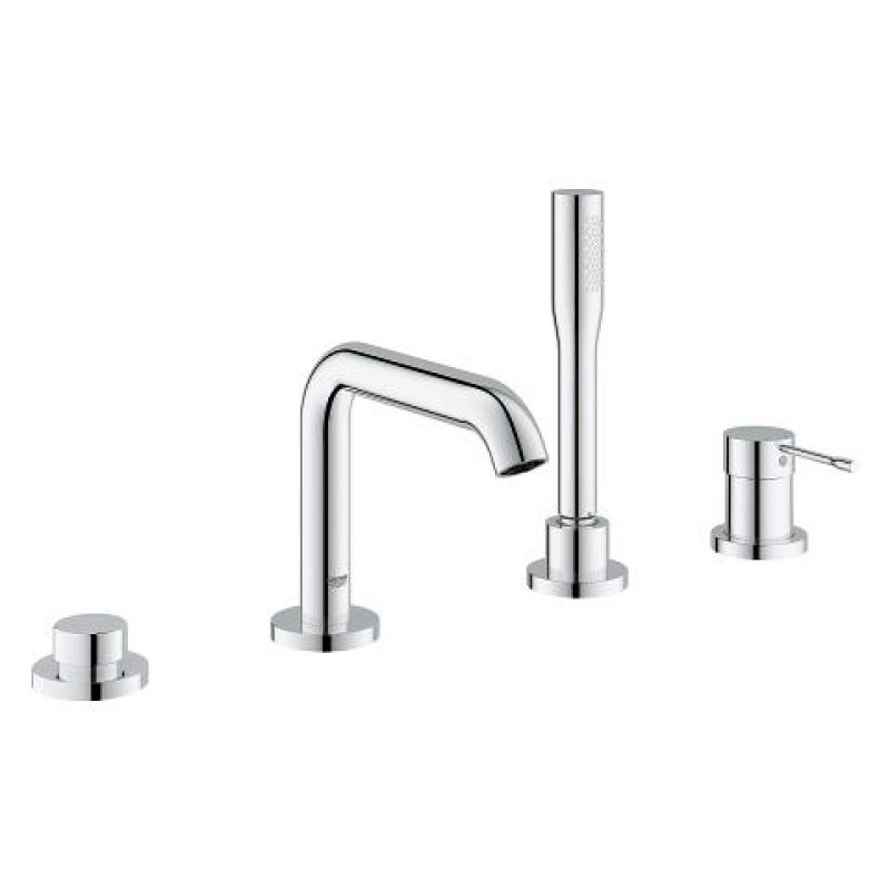 image for 19578001 Grohe Essence 4-Hole Single-Lever Deck Mounted Bath Tap Combination