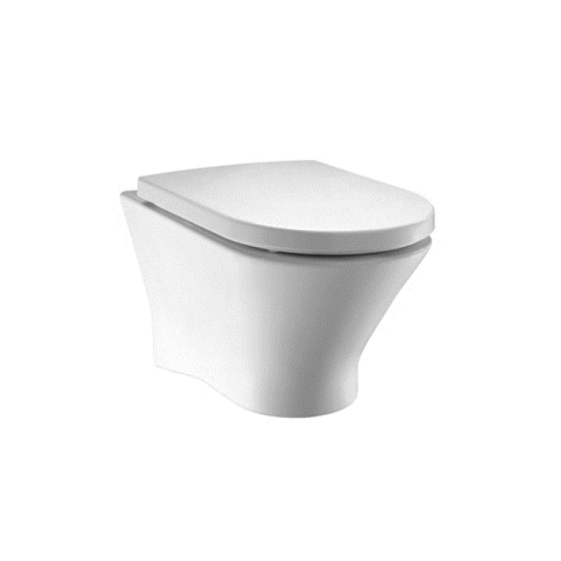 image for 34664L000 Roca Nexo Wall Hung Rimless Toilet Pan With Horizontal Outlet