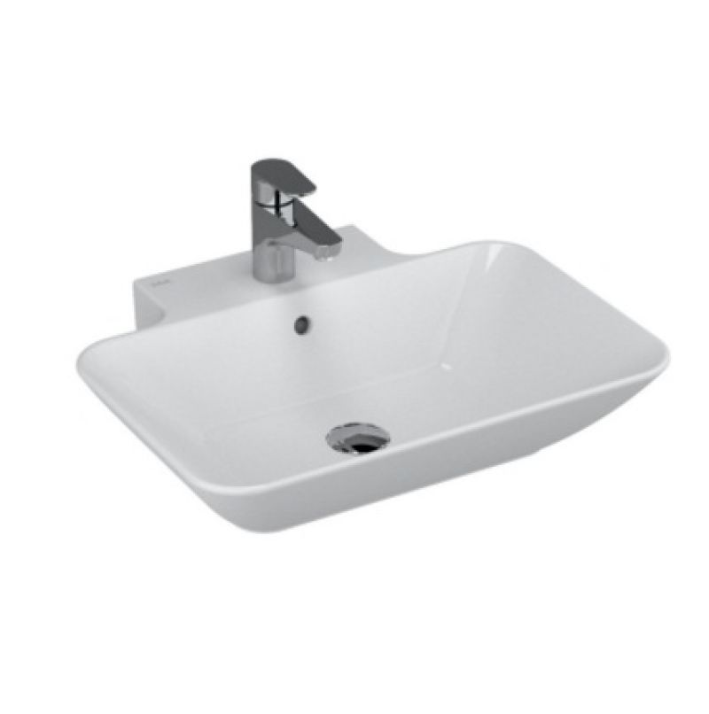 image for 4426B003-0001 Vitra Geo 600mm White 1 Tap Hole Countertop Basin