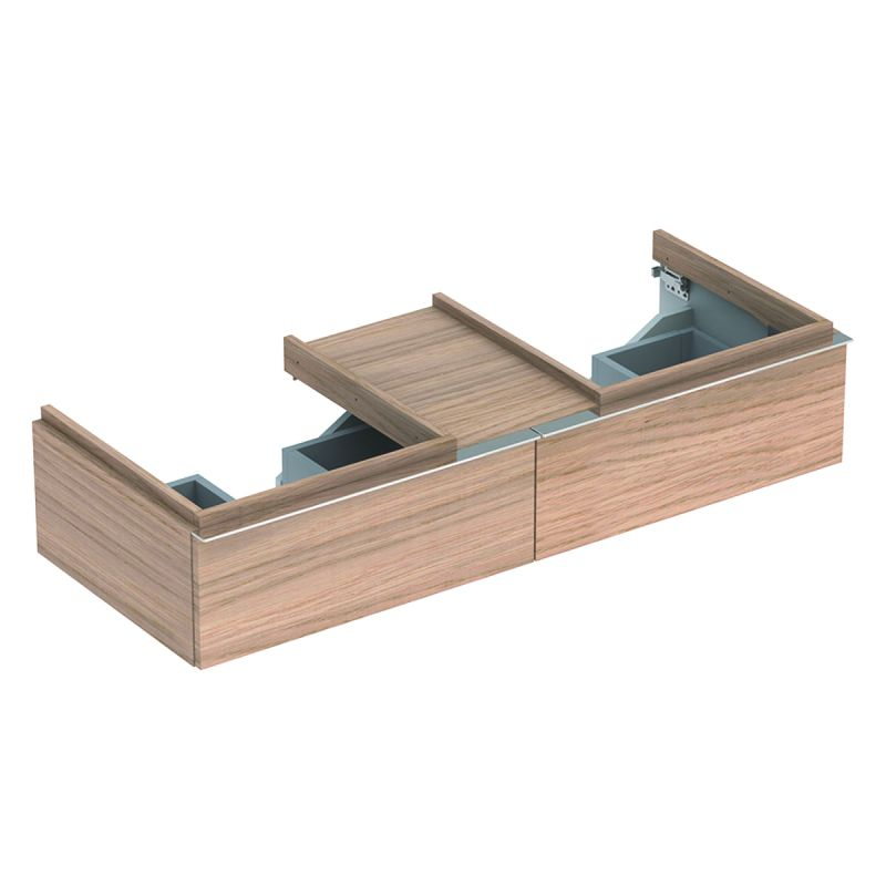 image for 500.444.JH.1 Geberit iCon 1200mm Vanity Unit Two Drawers Natural Oak