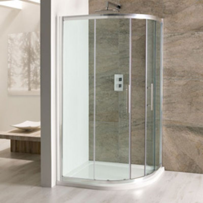 image for 58.123 Eastbrooks Volente easy clean Offset Quadrant Shower Enclosure 1000 x 700