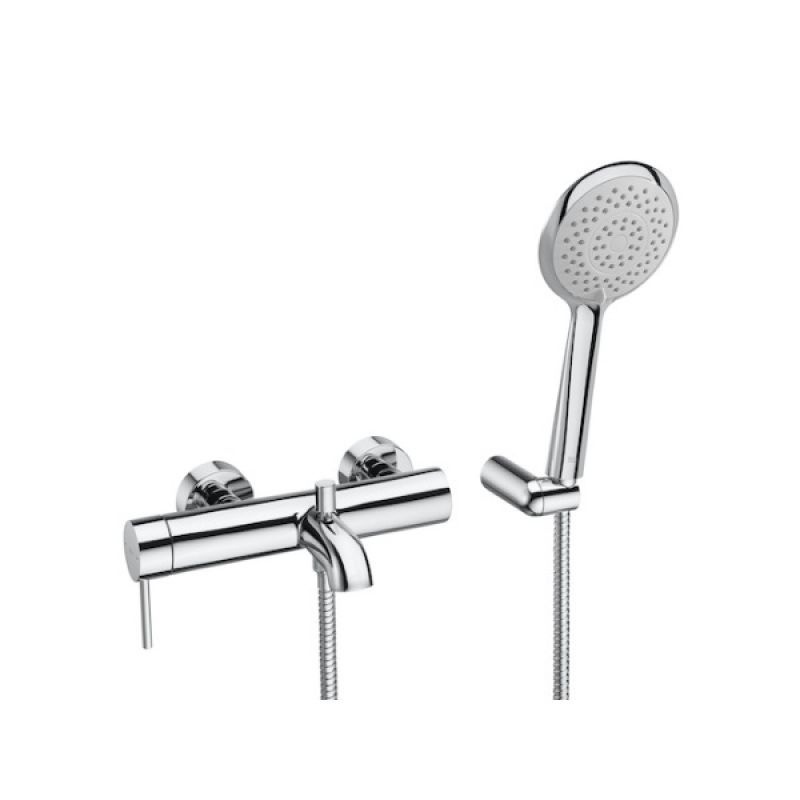 image for 5A0111C00 Roca Lanta Wall Mounted Bath Shower Mixer Tap with Sensum 4f Handset
